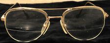 Pair of Vintage Z87 AO Pilot Gold Colored Eyeglasses Frame 145 54 / 18