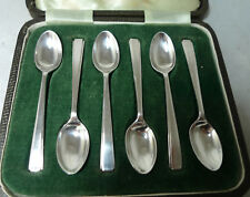 Arte deo Plata cucharillas Cooper Brothers Sheffield 1941 56g A638617