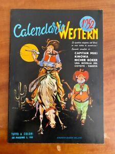 Calendario Western 1952 - Edizioni Dardo Milano - Anastatica