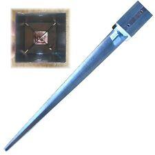 91x91 mm Einschlagbodenhülse Einschlaghülse Bodenhülse Bodeneinschlaghülse 2 mm
