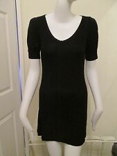 h&m - black - short sleeved Scoop neck dress Size xs