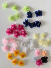 5 organza handmade decorative flowers craft embellishment 2.5 cm diameter