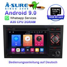 Sat Nav Android 9.0 DVD Player GPS BT SWC LED WIFI AUDI A4 B6 B7 SEAT EXEO DAB+