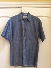 Mario Ferrari Mens Size (M) Medium Short Sleeve Button up Shirt Retro/ Vintage