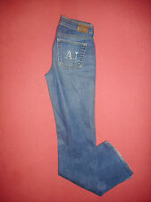 AJ Armani Indigo Series 7 - Waist 28 Leg 34 - Women's Blue Denim Jeans - B479