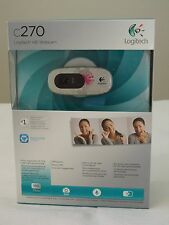 * NEW IN BOX * Logitech C270 HD Webcam 720p Widescreen ** Fuchsia Burst **