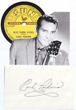 Carl Perkins ''King of Rockabilly'' Autograph Recorded At Sun Studios 1954     .