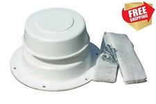 RV Replace Plumbing Vent Kit Polar White Lid Cover Cap Putty Tape Camp Roof