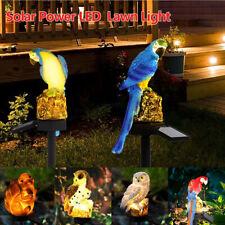 Solar Powered Garden LED Lights Owl Parrot Animal Lawn Ornament Waterproof Lamp