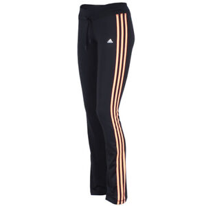 adidas Damen Climalite Hose Fitness Workout Training Sporthose schwarz-orange
