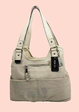 STYLE & CO  KENZA A LINE Vanilla Leather Shopper Bag  Msrp $108 *Reduced 80% off