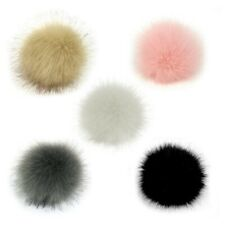 5pcs Artificial Fur Pom Poms Soft Fluffy Pom Pom Balls for Beanie Hat Bags 3.5cm