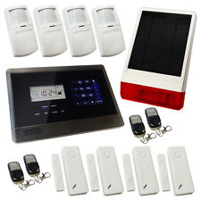 House Burglar Alarm Wireless Sentry Pro Solar Kit 3 Solar Powered Siren