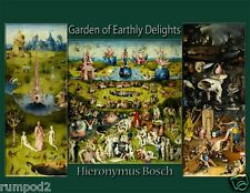 'Garden of Earthly Delights'-Hieronymus Bosch/Art Print/Poster/Painting/Repro/