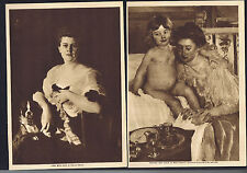 Cecilia Beaux (Lady with Dog) & Mary Cassatt-1914 American Women Painters Prints