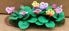1:12 Scale Multi Colour Pansies In A Flower Bed Tumdee Dolls House Garden B