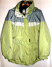 COLUMBIA WOMENS 3 IN 1 HOODED COAT WITH SOFT SHEEL JACKET SIZE-LARGE