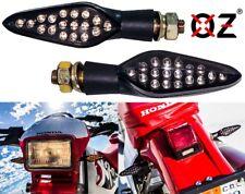 Dual Intensity Motorcycle Turn Signal Amber LED Light Rear  Smoke Lens 12 Volts