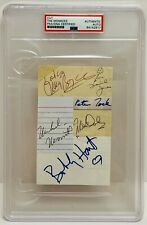 TOMMY BOYCE HART MONKEES Signed Autograph X6 Slabbed PSA JONES TORK NESMITH