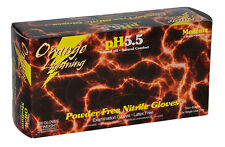 Atlantic Safety Orange Lightning 6 mil Nitrile Gloves MEDIUM pH 5.5 10/100/CS