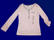 Haut pour Femmes Manches Longues Chemise Tunique Taille 38 Neuf