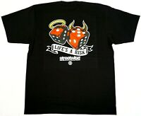STREETWISE LIFE'S A RISK Dice Gamble T-shirt Urban Streetwear Tee Men's New