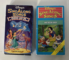 Disney's Sing Along Songs Aladdin Friends Like Me + Snow White Heigh-Ho VHS Set