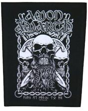 AMON AMARTH - SKULLS - BACK PATCH - BRAND NEW - MUSIC BAND 0851