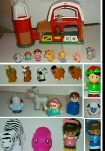 LOT Little People Fisher Price Farm Barn Animals & Sounds People