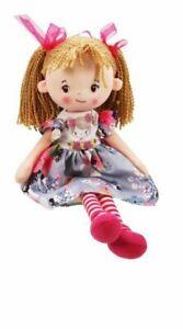 """Rag Doll - Cuddly soft toy 16"""" Chloe Floral Dress - Plush Age 3+ - (0561)"""
