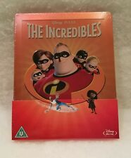 The Incredibles STEELBOOK Blu Ray UK Disney Sold Out Sealed Region Free Embossed
