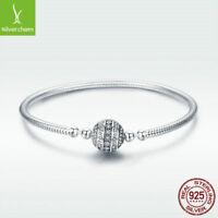European 925 Sterling Silver Bracelet Fashion Snake Bangle Elegant Women Present