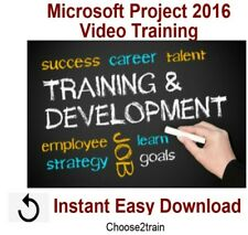 Learning Microsoft Project 2016 Video Training Tutorial