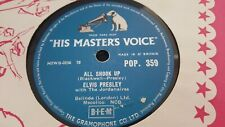 ELVIS PRESLEY ALL SHOOK UP  & THAT'S WHEN YOUR HEARTACHES BEGIN HMV POP 359