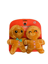 FuzzYard Happy Howlidays -Set Of Two-Mr. & Mrs Gingerbread Plush Squeaky Dog Toy