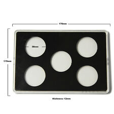 WR Transparent Acrylic Coin Display Holder Suit 38mm Diameter for 5pcs Coin Set