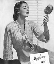 1940's BED JACKET -COPY  Ladies knitting pattern