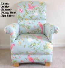 Laura Ashley Summer Palace Fabric Chair Duck Egg Pink Birds Armchair Floral