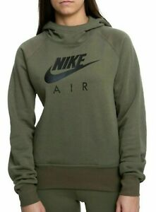 Nike Womens NSW Sportswear Air Hoodie Olive Green BV5132-222 Size Medium