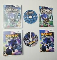 Sonic Nintendo Wii Lot: The Black Knight + Unleashed, Both Complete CIB NICE!