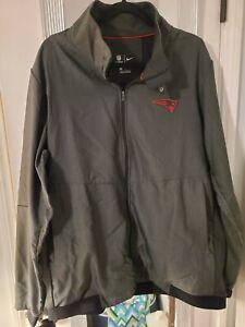 $140 Nike NFL Team Issue Travel Jacket 2.0 New England Patriots Gray Grey NWOT