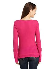 $32 Fox Racing Women's Start Up Henley Long Sleeve Tee In Guava Size S