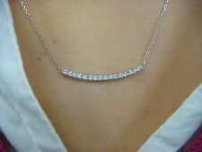 PLATINUM 0.55 CT T.W. DIAMOND BAR AND 14K WHITE GOLD 18 INCHES LONG NECKLACE