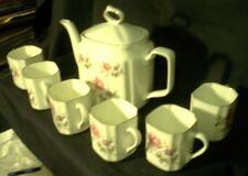 UPC Fine Bone China Tea Set 6 cups and tea pot Made in India Prairie Rose