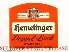 Germany Hemelinger Doppel Bock Brauerei Bier Beer Label Tavern Trove