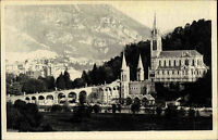 Lourdes Frankreich France ~1920/30 Basilique Pic du Jer Kathedrale Kirche Totale
