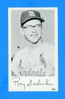 1960 ST LOUIS CARDINALS TEAM ISSUED POST CARD RAY SADECKI NM-MT