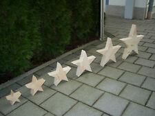 Deko Sterne, Holz Stern, Weihnachts Sterne, Fichte massiv
