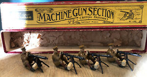 Britains: Boxed Set 198 - British Machine Gunners. Pre War c1920s