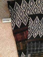 "Anne Taylor Patchwork Multi-Colored 100% Silk  Scarf 54 3/4 x15"" Rectangle"